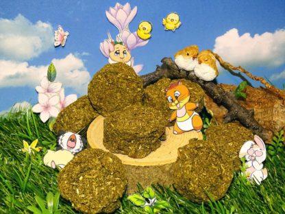 ein Haufen flacher grüner Kekse