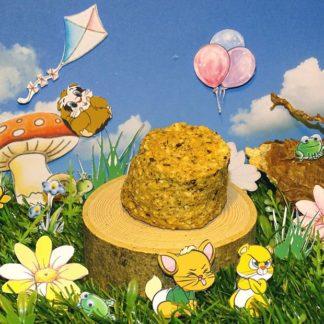 ein nussiger gelblicher keks