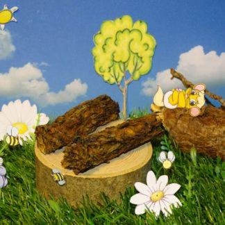dünne Leckerliestäbchen die in eine Holzkugel passen