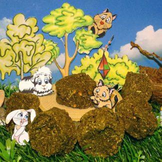 ein Haufen grüner flacher Kekse